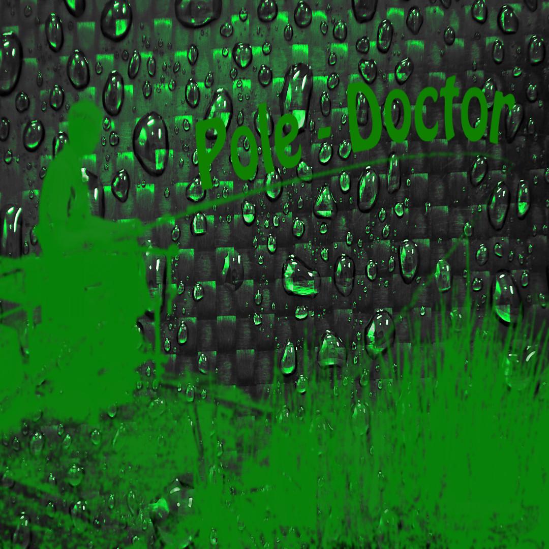 Hintergrund Carbon Grün mit Logo quadrat